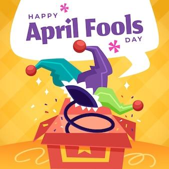 April dwazen dag evenement ontwerp