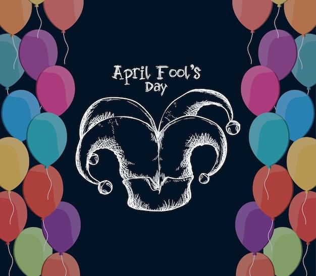 April dwazen dag hoed joker ballonnen