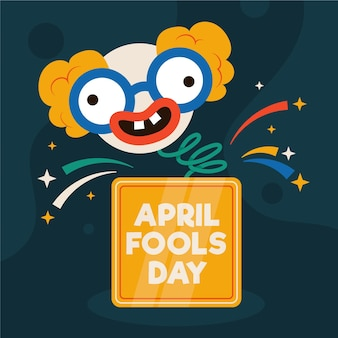 April dwazen dag illustratie