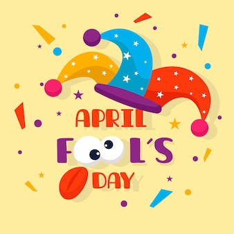 April dwazen dag in platte ontwerp