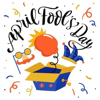 April dwazen dag kleurrijke tekening