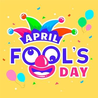 April dwazen dag met ballonnen