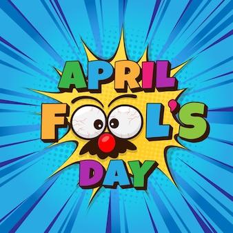 April dwazen dag met grappig oogmasker