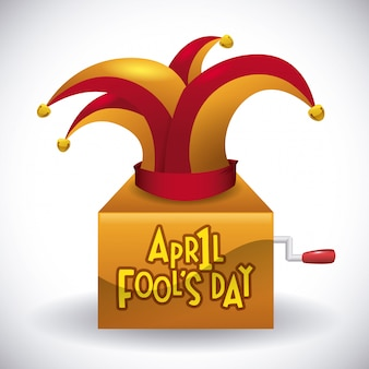 April dwazen dag ontwerp, vectorillustratie.