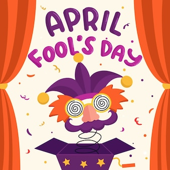April dwazen dag tekenstijl