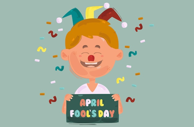 April fool's day illustratie