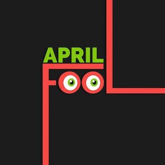 April fools day belettering typografie op een zwarte achtergrond voor wenskaart ad promotie poster artikel marketing bewegwijzering e-mail vector illustratie
