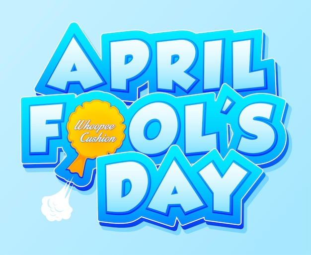 April fools day belettering