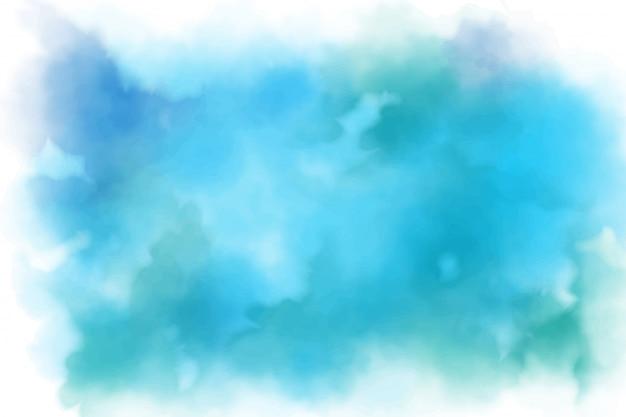 Aqua marine blauwe aquarel splash achtergrond
