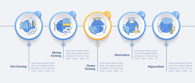 Aquacultuur infographic sjabloon