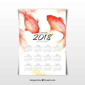 Aquarel 2018 kalender