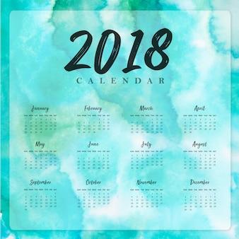 Aquarel 2018 nieuwjaars jaarkalender