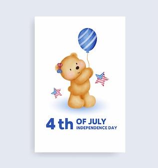 Aquarel 4 juli - onafhankelijkheidsdag