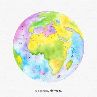Aquarel aarde achtergrond