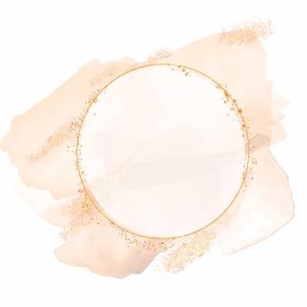 Aquarel abstract cirkelvormig frame