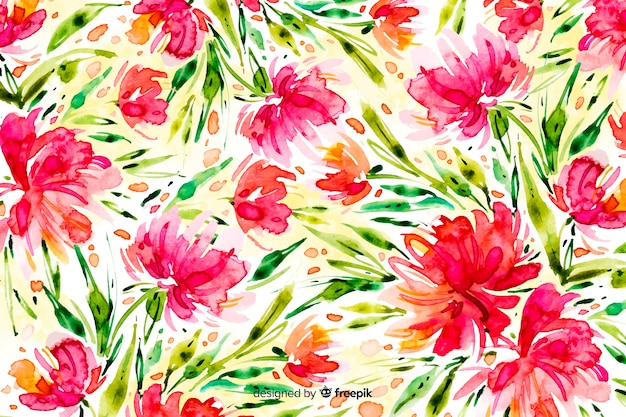 Aquarel abstract floral achtergrond
