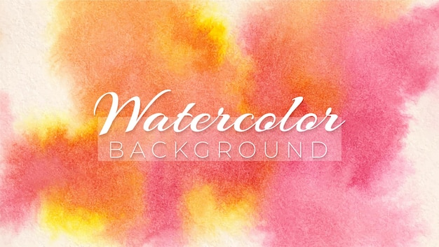 Aquarel abstract karmozijnrood meer en gamboge tint modern elegant ontwerp achtergrond