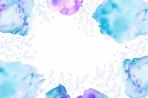 Aquarel abstracte blauwe achtergrond