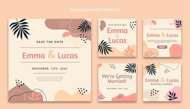Aquarel abstracte bruiloft ig posts