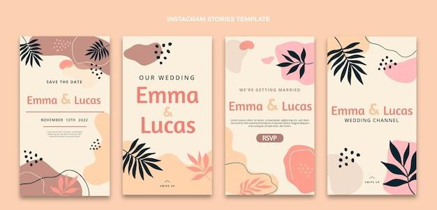 Aquarel abstracte bruiloft ig verhalen