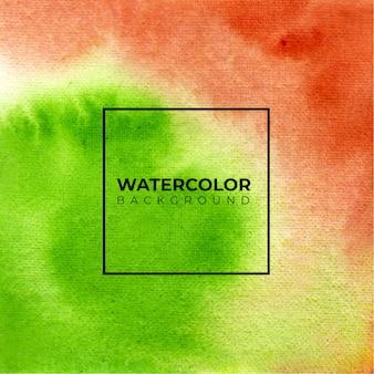 Aquarel abstracte groene en bruine kleuren textuur achtergrond.