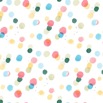 Aquarel abstracte naadloze patroon met stippen op textuur