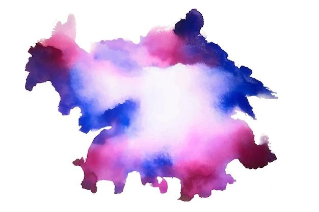 Aquarel abstracte vlek textuur achtergrond Gratis Vector