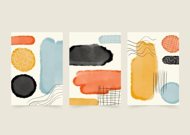 Aquarel abstracte vormen covers