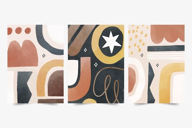 Aquarel abstracte vormen omvat collectie