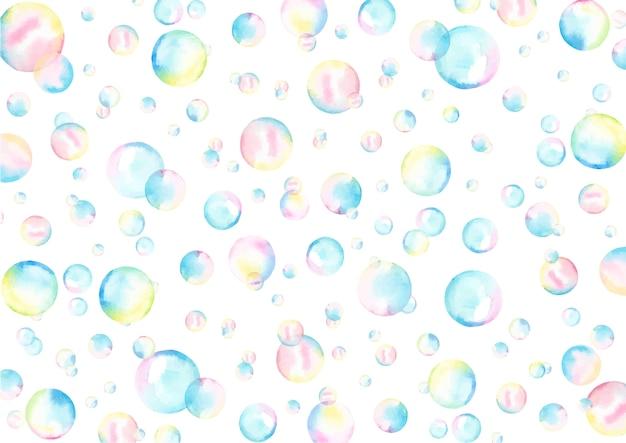 Aquarel achtergrond met bubbels.