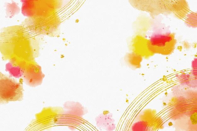 Aquarel achtergrond met gouden folie