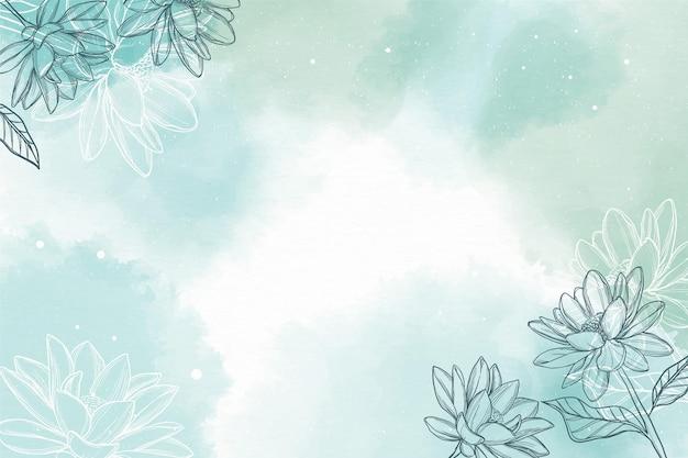Aquarel achtergrond met hand getrokken elementen