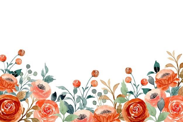 Aquarel achtergrond met perzik bloem