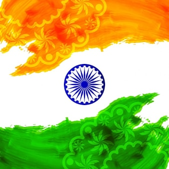 Aquarel achtergrond van india