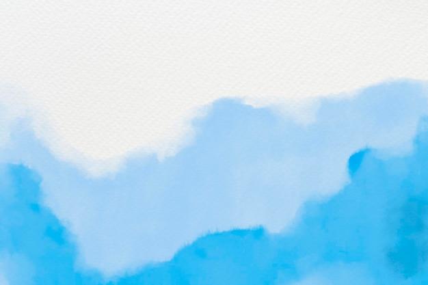 Aquarel achtergrond vector in blauwe abstracte stijl