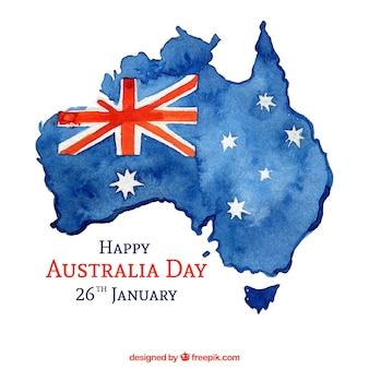 Aquarel australië dag achtergrond