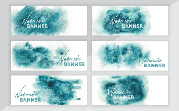 Aquarel banner set