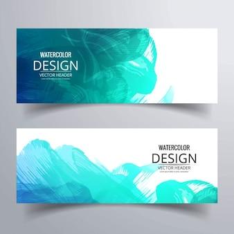 Aquarel banners Gratis Vector