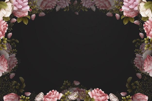 Aquarel behang met rozen