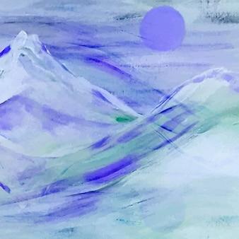 Aquarel bergen achtergrond