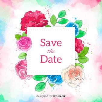Aquarel bewaar de datum