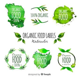 Aquarel biologische fruitetiket