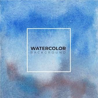 Aquarel blauw wassen textuur. abstracte achtergrond