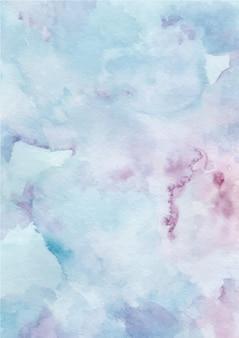 Aquarel blauwe abstracte textuur achtergrond