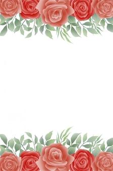 Aquarel bloem achtergrond