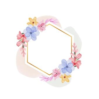 Aquarel bloem frame achtergrond