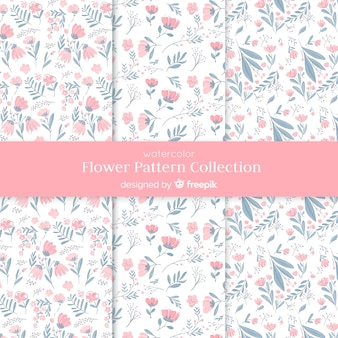 Aquarel bloem patroon collectie