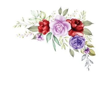 Aquarel bloemboeket achtergrond