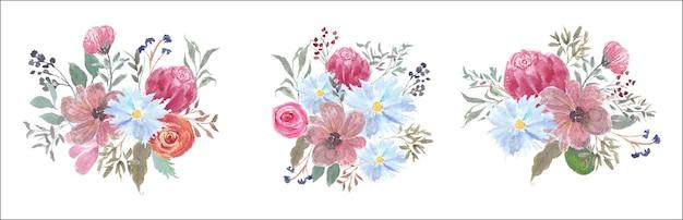 Aquarel bloemboeket collectie
