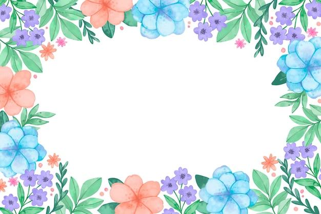 Aquarel bloemen achtergrond in pastelkleuren